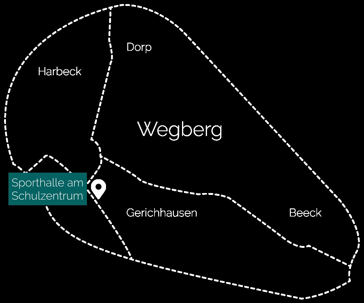 Karte Trainingshalle HSV Wegberg